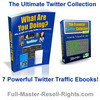 Thumbnail *New!* ULTIMATE TWITTER TRAFFIC SECRETS COLLECTION - 7 EBOOKS with FULL PLR, MRR RIGHTS !