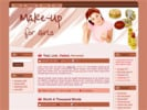 Thumbnail Makeup For Girls Wordpress Theme + HTML Template - with Master Resale Rights!