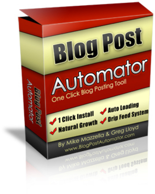 Product picture *NEW!* Blog Post Automator - One Click Blog Posting Tool - with Master Reale Rights (MRR) - (128 MB) Download !