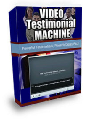 Product picture *NEW*! Video Testimonial Machine - With Private Label Rights (PLR) - Download Now !!