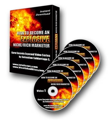 Product picture How To Become An Explosive Niche Rich Marketer - with Private Label Rights (PLR) - Massive 260 MB / Quality Content - Ebook + Videos Download !!