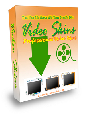 Product picture *NEW!* VIDEO SKINS PACKAGE - Give Your Site A Sophisticated Look With These Great Video Skins - DOWNLOAD !